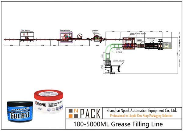 Ligne de remplissage de graisse automatique 100ML-5L