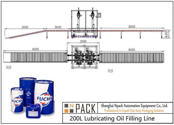 Automatic 200L Lubricating Oil Filling Line