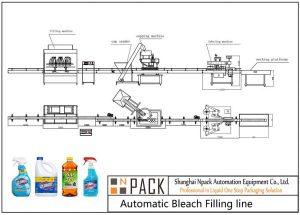 Ligne de remplissage d'eau de Javel automatique