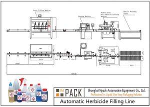 Ligne de remplissage automatique d'herbicide