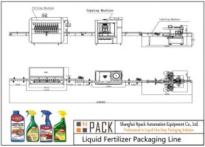 Ligne de remplissage d'engrais liquide automatique