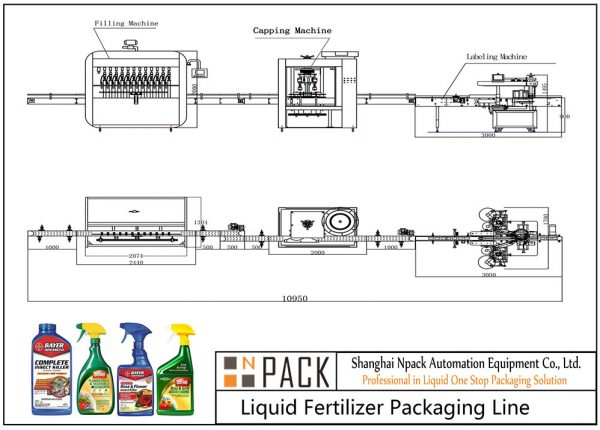 Automatic Liquid Fertilizer Filling Line