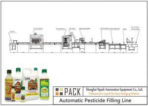 Ligne de remplissage automatique de pesticides